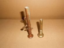 2 embouts ancien clairon trompette instrument musique old Bugle tip trompetenspi