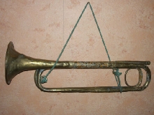 TROMPETTE de Cavalerie circa 1870 rare mark Antique old military cavalry trumpet