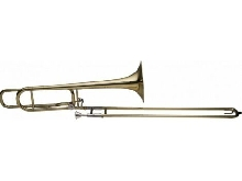 Stagg WS-TB255S - Trombone à coulisse ténor en Sib et Fa, open wrap, perce L