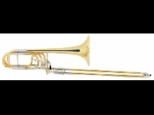 Trombone Basse a Coulisse en Sib/Fa/Solb Laque Laiton Valves Rotatives Housse