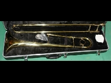 TROMBONE TENORE ORO - GOLD LACQUER NEW ORLEANS CHIAVE Sib / Bb  Mod. T-810