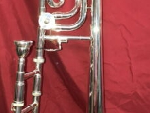 Silver Trombone Bb with F attachment Design Beautiful great Step UP